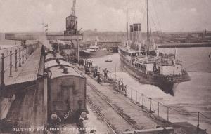 Flushing Boat Folkestone Harbour Mecklenburg Ship Old Postcard