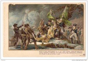 Patriotic Postcard Colonial Heroes #15 Lange Schwalbach Death of Montgomery  PMC