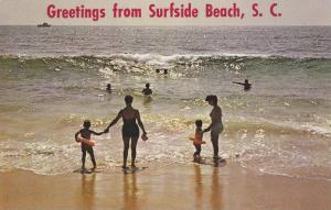 Glistening Sea, Greetings from Surfside Beach,  South Carolina,  40-60s