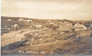 Jonesboro ME Harbor View in 1929 RPPC Postcard