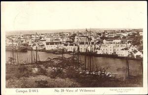 curacao, D.W.I., WILLEMSTAD, Panorama (1936) Capriles RPPC 28