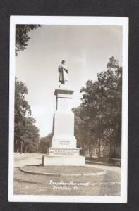 VT Civil War Monument BRANDON VERMONT Real Photo RPPC Postcard