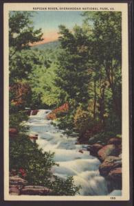 Rapidan River,Shenandoah National Park Postcard