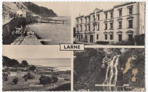 Co. Antrim; Larne Multiview RP PPC, Unposted, Shows McNeills Hotel, Chaine Park