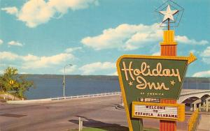Eufaula AL Vandiver Causeway (Hwy 82) & Riverside Dr~Holiday Inn Marquee 1965