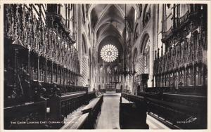 England The Choir Looking East Durham Cathedral Real Photo