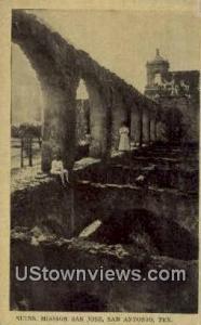 Ruins, Mission San Jose San Antonio TX Unused