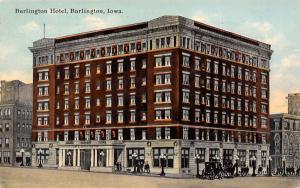 Hotel Burlington IA~7-Story Renaissance Revival Low-Rise-Now Apts c1910 Postcard