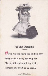 Valentine's Day Doll Carrying Suitcase