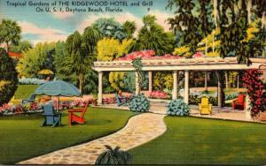 Florida Daytona Beach Ridgewood Hotel and Grill Tropical Gardens
