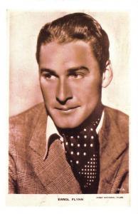 Nostalgia Postcard Actor Errol Flynn 1935 Reproduction Card NS28
