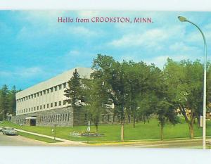 Unused Pre-1980 COURTHOUSE SCENE Crookston - Near East Grand Forks MN d2386