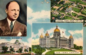 Iowa Des Moines State Capitol Historical Building Capitol Park & Governor Hic...