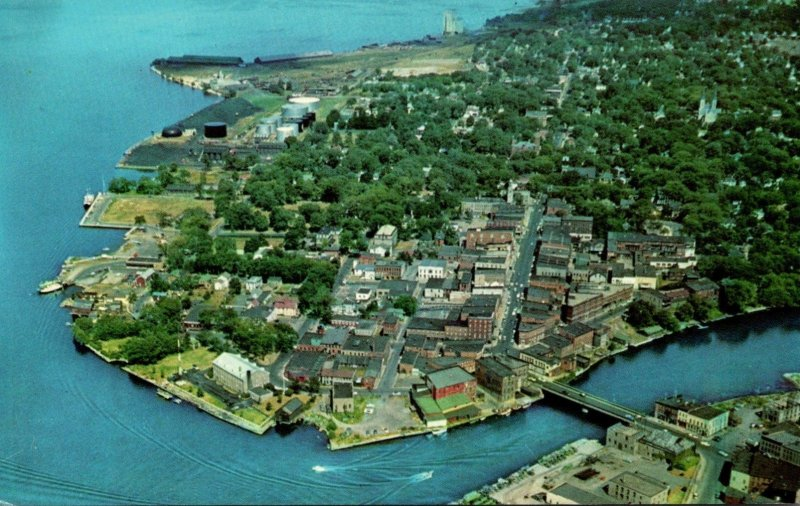 New York Ogdensburg Aerial View