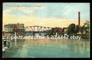 4442 - CHATHAM Ontario 1910 Third Street Bridge by Stedman