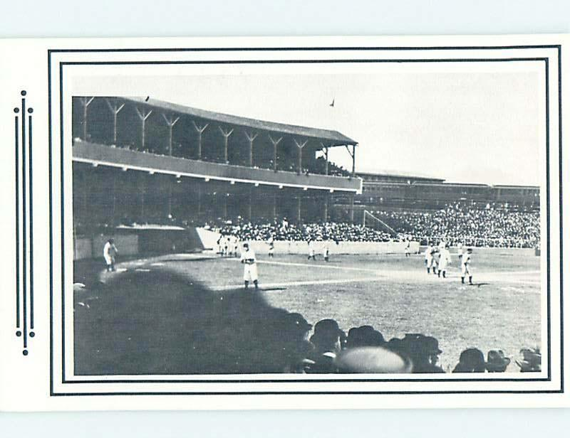 Unused 1970's Postcard PAST ERA VIEW OF BASEBALL STADIUM New York City NY HM5045