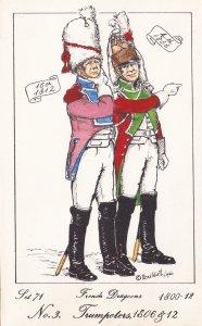 French Dragoon Trumpeter Soldier Napoleonic War Uniform PB Rare Postcard