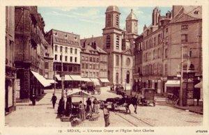 SEDAN FRANCE L'AVENUE CRUSSY ET L'EGLISE SAINT-CHARLES