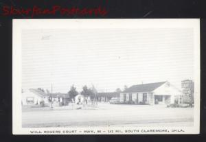 CLAREMORE OKLAHOMA WILL ROGERS COURT MOTEL ROUTE 66 VINTAGE POSTCARD