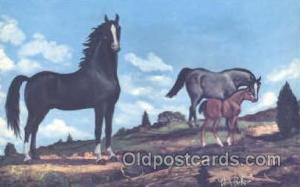 Painting by Vern Parker Horse Postcard Postcards  Painting by Vern Parker