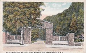 New York Watkins Glen Entrance Arch Watkins Glen Reservation