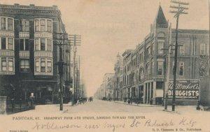 PADUCAH , Kentucky, 1908 ; Broadway from 5th ; TUCK 2283
