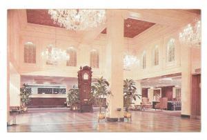 New Orleans Monteleone Hotel French Quarter Lobby Postcard