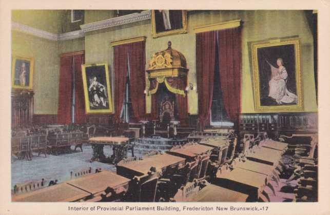 Interior of Provincial Parliament Building Fredericton NB New Brunswick Canada