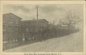 Antique Postcard - Over Seas Men Arriving, Camp Merritt New Jersey early 1900's