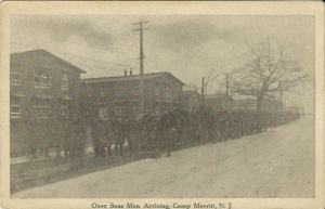 Antique Postcard - Over Seas Men Arriving, Camp Merritt New Jersey early 1900's