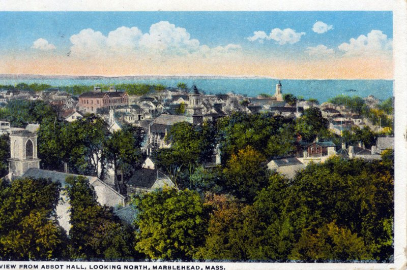 [ American Art ] US Massachusetts Marblehead - View From Abbot Hall