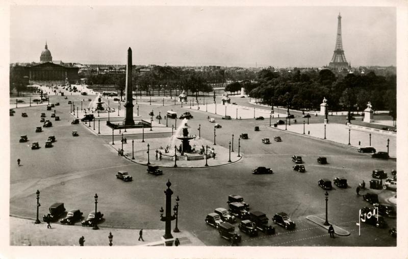 France - Paris. Concorde Place, circa 1949.    *RPPC