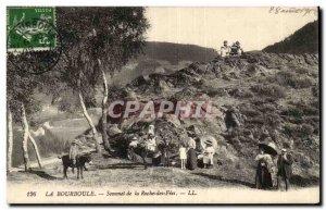 Puy de Dome- The Bourboule- Summit Rock Fees-ane -Carte Old Post