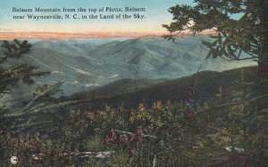 BALSAM, North Carolina, 1900-1910s; Balsam Mountain From Top Of Plotts