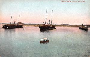Port Said Egypt, Egypte, Africa Canal De Suez Port Said Canal De Suez