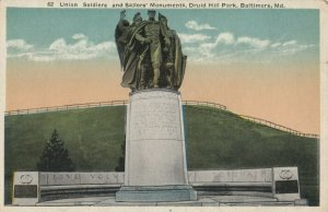 BALTIMORE, Maryland, 1900-1910s ; Union Soldiers & Sailors Monument