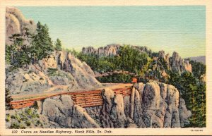 South Dakota Black Hills Curve On The Needles Highway Curteich