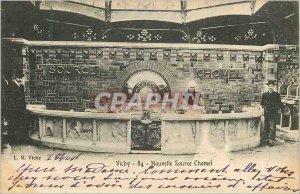Postcard Old New Vichy Source Chomel (map 1900)