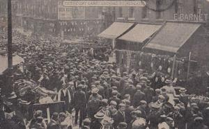 Petticoat Lane Market Ben Hur Film Poster London Antique Postcard