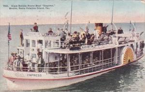 Glass Bottom Power Boat Empress Avalon Santa Catalina Island California 1915