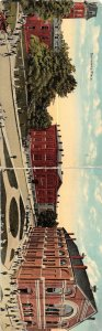 G4/ Valparaiso Indiana Postcard 2-Panel University place Buildings c1910