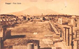 Italy Old Vintage Antique Post Card Foro Civile Pompei Unused