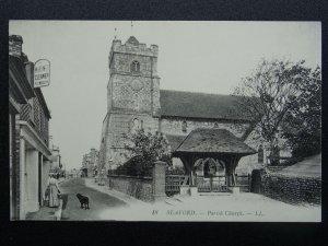 East Sussex SEAFORD St. Leonard's Parish Church c1905 Postcard by LL. 18