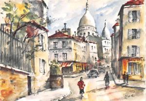 Paris France Rue Norvins et Montamartre Paris Rue Norvins et Montamartre