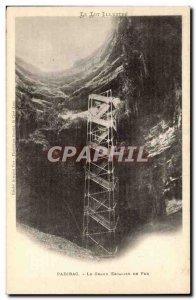 Padirac Old Postcard large iron staircase