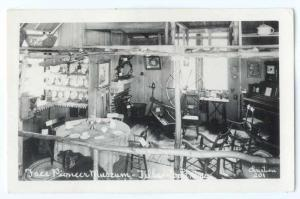 RPPC of an Interior View at Free Pioneer Museum Tillamook Oregon OR