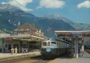 Bahnhof Frutigen Switzerland Train Station Postcard