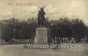 Metz Germany, Deutschland Postcard Marschall Ney Denkmal  Marschall Ney Denkmal