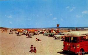 Daytona Beach FL Hot Dog Pepsi Truck Cars Postcard