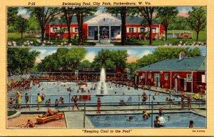 West Virginia Parkersburg City Park Swimming Pool Curteich